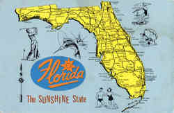 Map of Florida - The Sunshine State