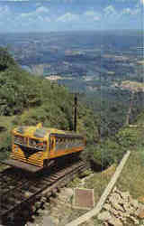 View of the Incline from the Station at the top of Lookout Mountain