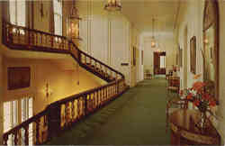 Staircase and hallway of Kingwood Hall, Kingwood Center