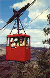 Tram car near summit of Prospect Mt.