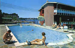 Captain Thomson's Motor Lodge, 1000 Islands Postcard