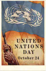 United Nations Day Poster Postcard