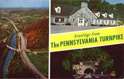 Greetings from The Pennsylvania Turnpike Postcard