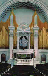 Platform and Organ in The First Church Of Christ, Scientist Postcard
