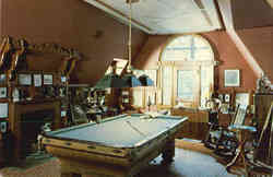 Billiard Room, Mark Twain's House Postcard