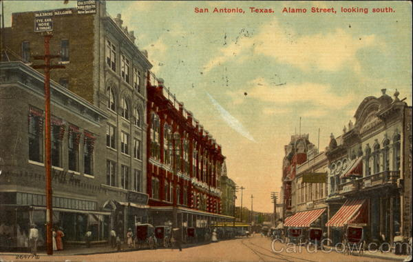Alamo Street Looking South San Antonio Texas