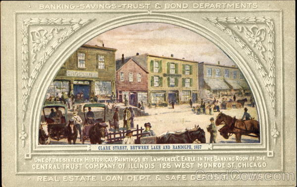Clark Street Between Lake And Randolph 1857 Chicago Illinois