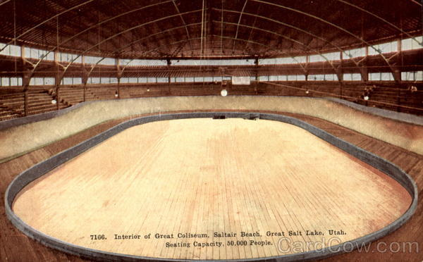 Interior Of Great Coliseum, Saltair Beach Great Salt Lake Utah