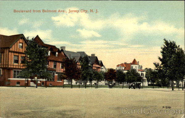 Boulevard From Belmont Ave. Jersey City New Jersey