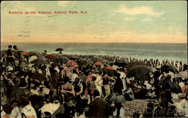 Bathing At 4Th Avenue Asbury Park New Jersey