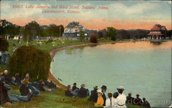 Lake Jeanette And Band Stand, Soldiers Home Leavenworth Kansas