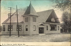 M. E. Church, South Macon Postcard