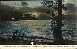 Sunset Scene On Lake Okoboji Off Pillsbury Point