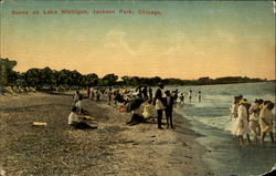 Scene On Lake Michigan, Jackson Park Postcard