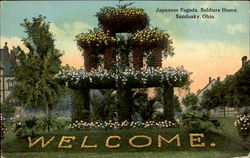 Japanese Pagoda Soldiers Home Postcard