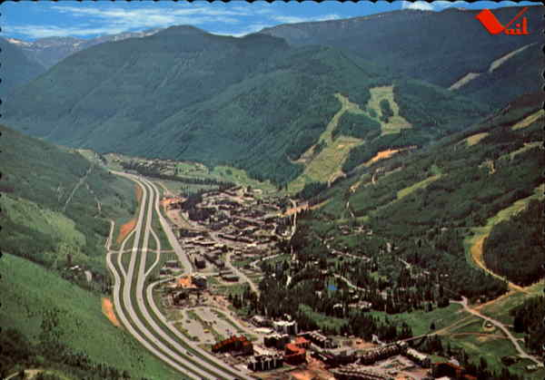 Aerial View Of Vail Colorado