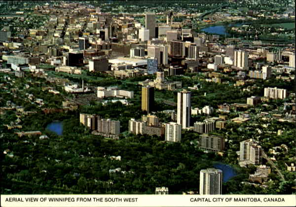 Aerial View Of winnipeg From The South West Canada