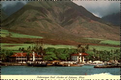 Picturesque Boat Harbor At Lahaina, Maui