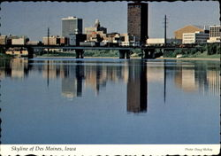 Skyline Of Des Moines Postcard