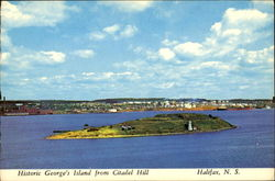 Historic George's Island From Citadel Hill Postcard