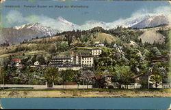 Pension Kayser am Wege zur Weiherburg Postcard