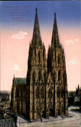 koeln's cathedral Postcard
