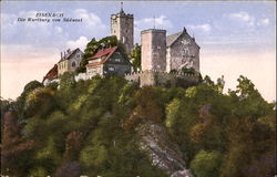 Eisenach. Wartburg Castle, view from south-west