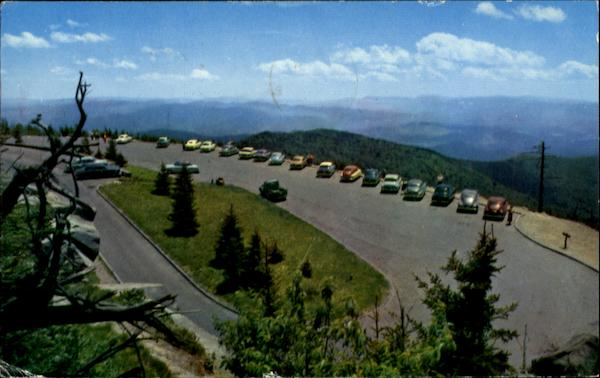 Parking Area At Clingman's Dome Great Smoky Mountains ...