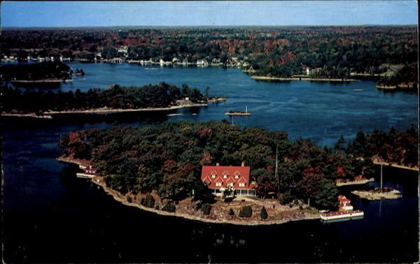 Autumn Aerial View Of Dashwood Island Ontario Canada