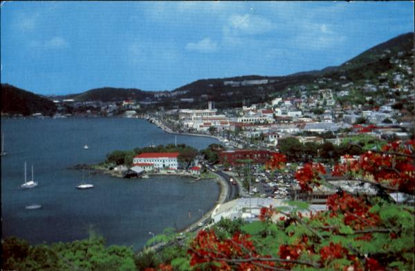 View Of Charlotte Amalie From Bluebeard's Castle St. Thomas Virgin Islands