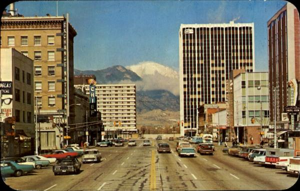 Pike Peak Avenue And State Center Colorado Springs