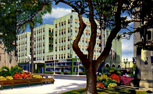 San Carlos Hotel, Fifth and Olive Streets Los Angeles California