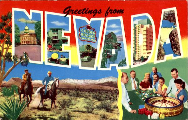 Greetings From Nevada Large Letter