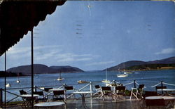 View From The Moorings Little Norway Of America, Manset Postcard
