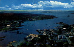 Aerial View Showing Boothbay Harbor