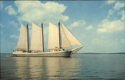 Windjammer Off The Coast Of Maine