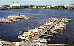 Yacht Basin With Palm Beach Lakefront In Background