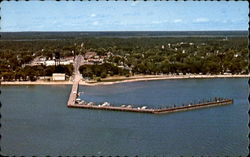 Public Dock & Beach Postcard