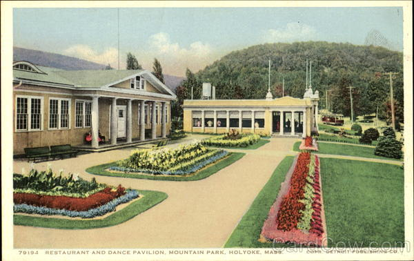 Restaurant And Dance Pavilion, Mountain Park Holyoke Massachusetts