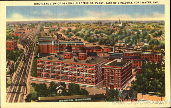 Bird's Eye View Of General Electric Co. Plant Fort Wayne Indiana