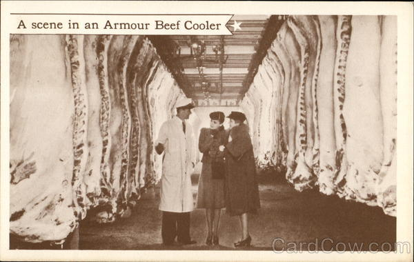 A Scene In An Armour Beef Cooler Advertising