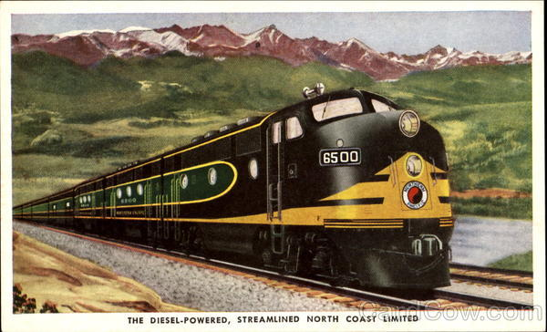 The Diesel-Powered Streamlined North Coast Limited