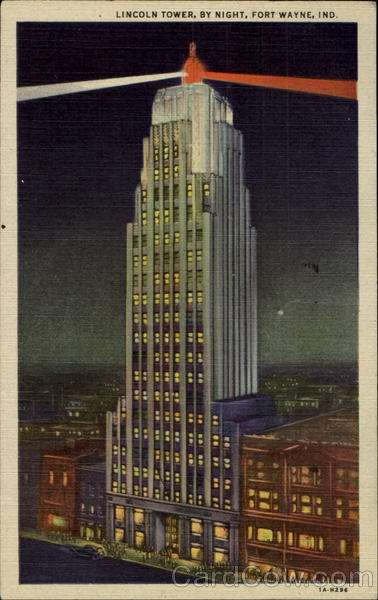 Lincoln Tower By Night Fort Wayne Indiana