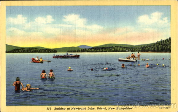 Bathing At Newfound Lake Bristol New Hampshire