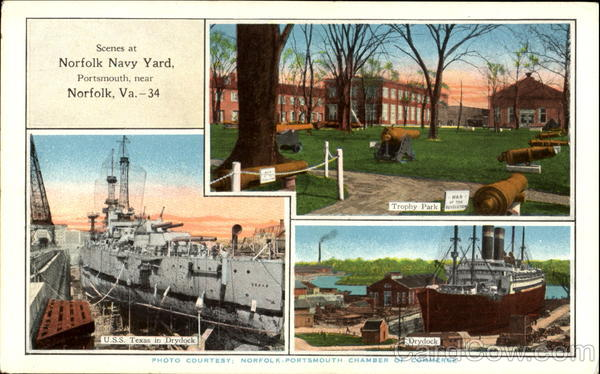 Scenes At Norfolk Navy Yard, Portsmouth Virginia