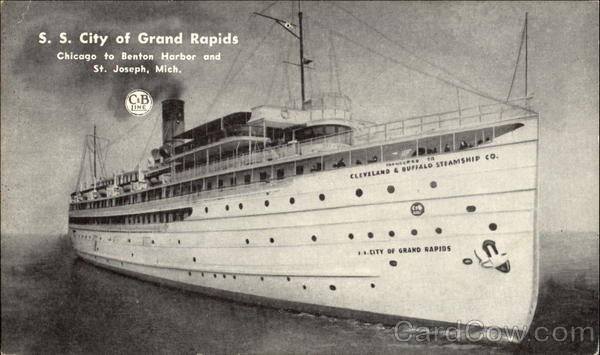 The S. S. City Of Grand Rapids Michigan Boats, Ships