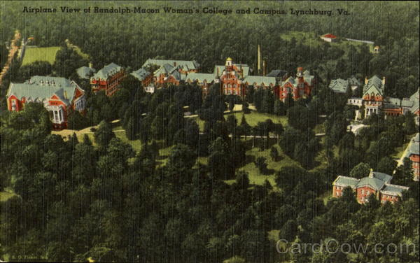 Airplane View Of Randolph-Macon Women's College And Campus Lynchburg Virginia