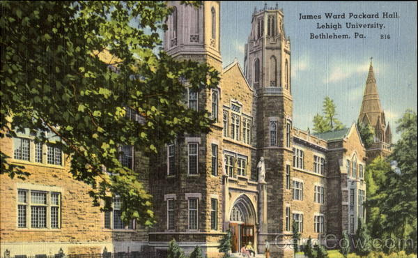 James Ward Packard Hall, Lehigh University Bethlehem Pennsylvania