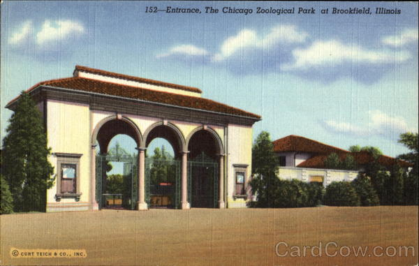 Entrance, The Chicago Zoological Park Brookfield Illinois