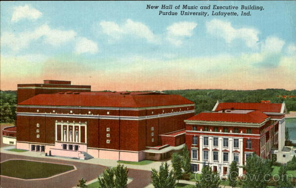 New Hall Of Music And Executive Building, Purdue University Lafayette Indiana